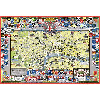Historical Map of London 1000 Piece Jigsaw Puzzle (jg)