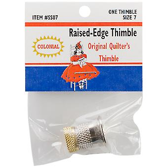 Raised Edge Thimble Size 7 Sst 7