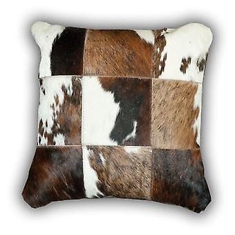 Rugs -Leather Patchwork Normandy Cow Cushion