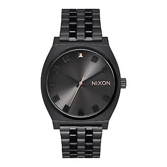Nixon de tijd-Teller Black Crystal / Rose Gold (A0452525)