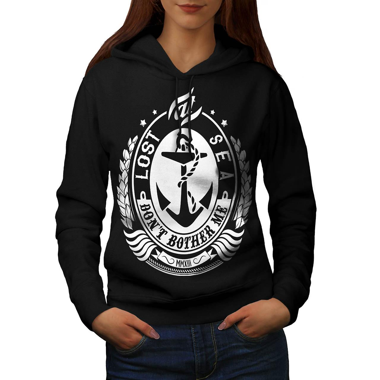 Lost At Sea Boat Ship Bother Me Women Black Hoodie | Wellcoda