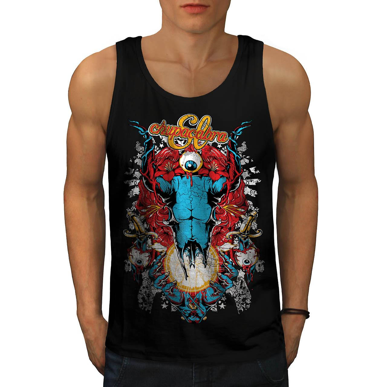 Chupacabra Demon Hell King Satan Men Black Tank Top | Wellcoda