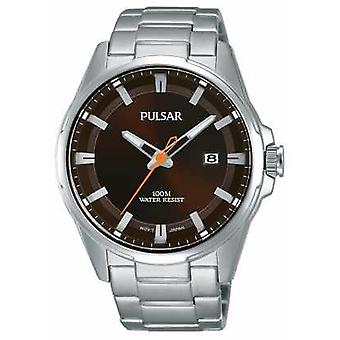 Pulsar Gents Stainless Steel Brown Face PS9507X1 Watch