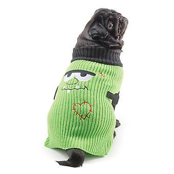 Small Bite Halloween Sweater Green Extra Small