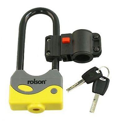 Padlock & Keys Steel Body 2 Keys 80 X 200Mm With Bracket Shackle D Lock
