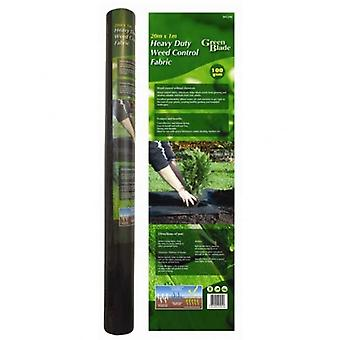 20M X 1M Heavy Duty Weed Control Fabric 100GSM Garden Ground Cover