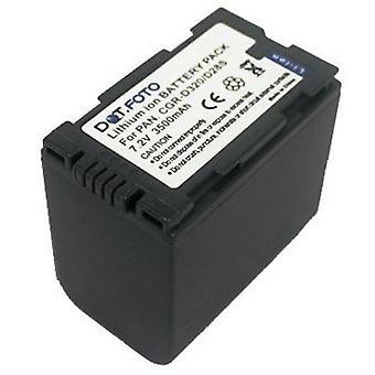 Dot.Foto Panasonic CGR-D28S, CGR-D320 substituição bateria - 7.2 v / 3500mAh