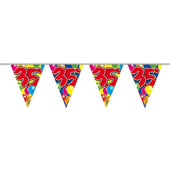 Pennant chain 10 m number 35 years birthday decoration party Garland