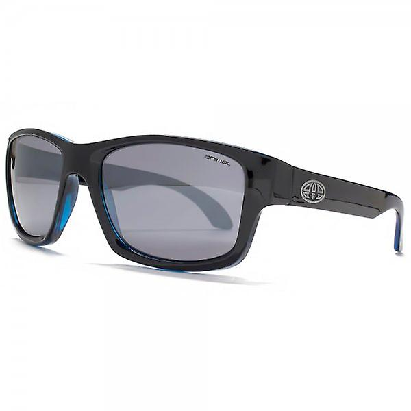Animal Fly Square Retro Sunglasses In Black On Blue