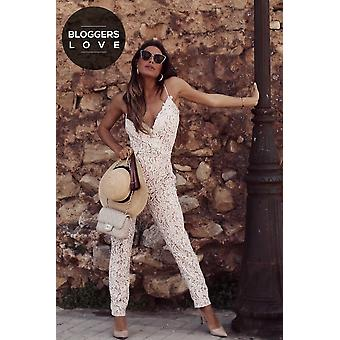 Outlet Little Mistress White Jumpsuit
