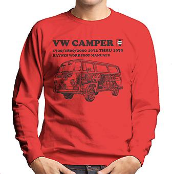 Haynes Workshop Manual VW Camper 72 To 79 Black Men's Sweatshirt