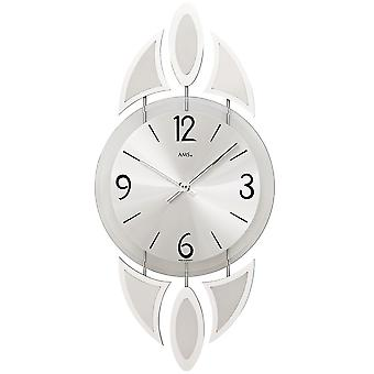 Watch Crystal mineral glass with decorative wall clock chromed metal pads