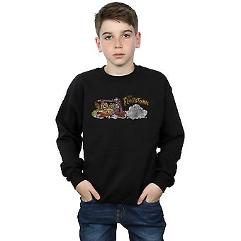 The Flintstones Boys Family Car Distressed Sweatshirt