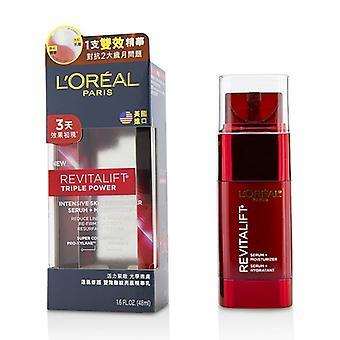 L'oreal New Revitalift Triple Power Intensive Skin Revitalizer Serum + Moisturizer - 48ml/1.6oz