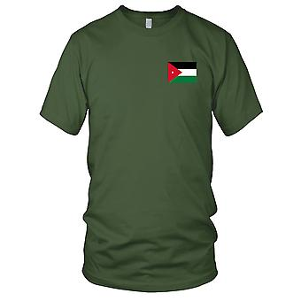 Jordan Country National Flag - Embroidered Logo - 100% Cotton T-Shirt Mens T Shirt