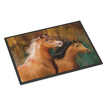 Carolines Treasures  PTW2021JMAT Horse Duo Indoor or Outdoor Mat 24x36
