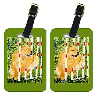 Carolines Treasures  SS8906BT Pair of 2 Golden Retriever Luggage Tags