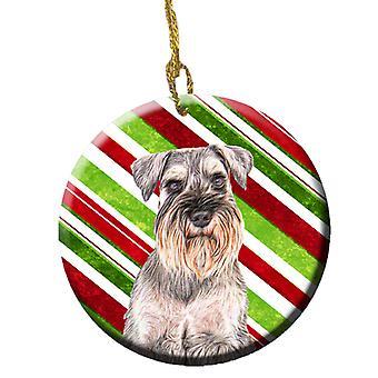 Zuckerstange Urlaub Weihnachten Schnauzer keramischen Ornament