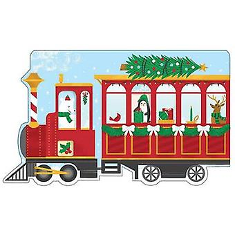 Christmas Train Shaped Cover Sticky Notes by Galison & Alyssa Nassner
