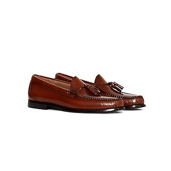 G.H. Bass & Co. Weejuns Larkin Tassle Loafers Tan