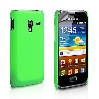 Yousave Accessories Samsung Galaxy Ace Plus Hard Hybrid Case - Green