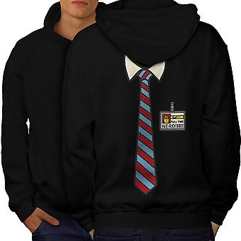 Full Time Geek Men BlackHoodie Back | Wellcoda