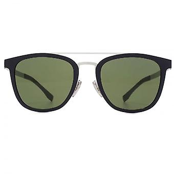 Hugo Boss Double Bridge Sunglasses In Blue Palladium