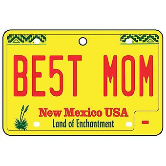 New Mexico - Best Mom License Plate Car Air Freshener