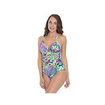 Seaspray SY007030 Women's Multicolour Motif Costume One Piece Swimsuit