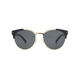 Polaroid Metal Combo Round Sunglasses In Black Polarised