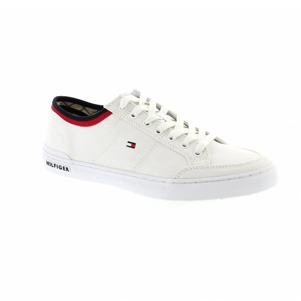 Tommy Hilfiger Core Corporate Textile Sneaker - White Mens Trainers