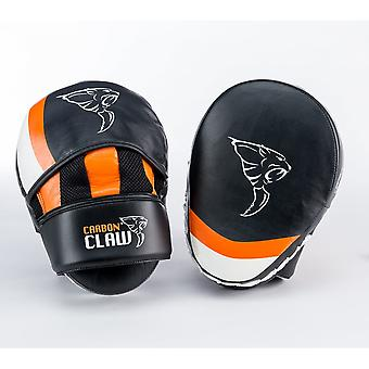 Carbon Claw Hook And Jab Pad Curved - Black & Orange
