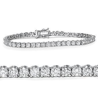 5ct Diamant Tennis Armband 14K White Gold