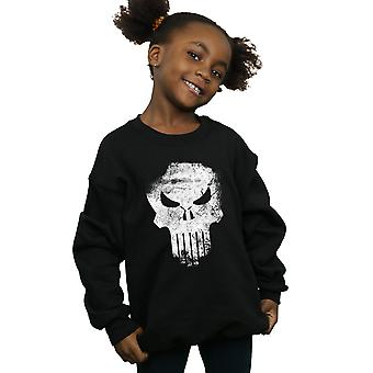 Marvel Girls The Punisher Distrressed Skull Sweatshirt