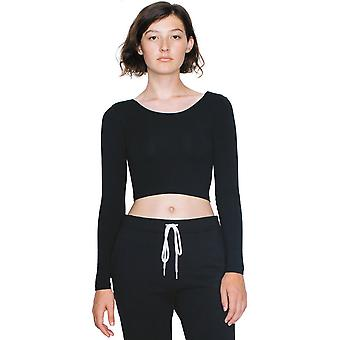 American Apparel Womens/Ladies Long Sleeve Cotton Spandex Crop Top