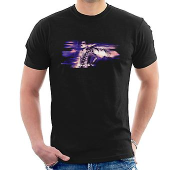 Freddie Mercury Of Queen Its A Hard Life Shoot 1984 Purple Flare Men's T-Shirt
