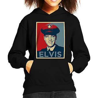 Elvis Presley Inspired Art Kid's Hooded Sweatshirt