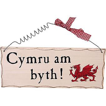 Something Different Cymru Am Byth Welsh Hanging Sign