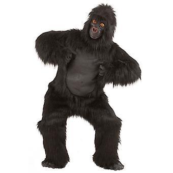 Plysch Gorilla kostym (kostym W/bröststycke händer fötter Mask)