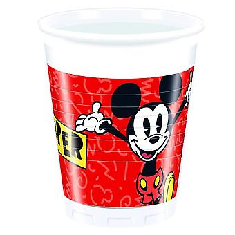 Mickey super cool Micky Maus party Cup ca 200 ml birthday 8 pieces