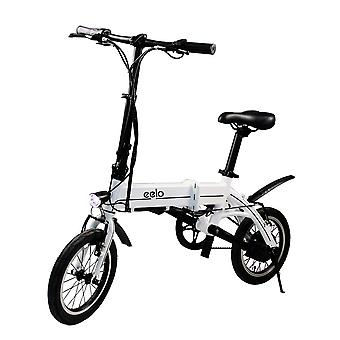 eelo 1885 Folding Electric Bike - Portable and Easy to Store in Caravan, Motor Home, Boat. Short Charge Lithium-Ion Battery and Silent Motor eBike, Thumb Throttle and LCD Speed Display.