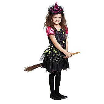 Magic witch witch costume dress black for children
