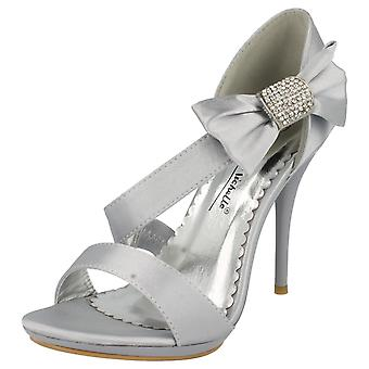 Ladies Anne Michelle Side Bow Detail Peep Toe Heeled Sandals