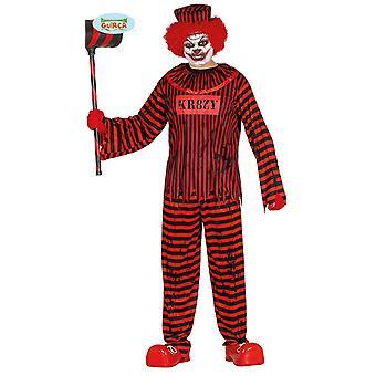 Psycho horror clown for men's Halloween crazy killer clown killer