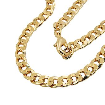 Curb chain flat 50cm gold-plated