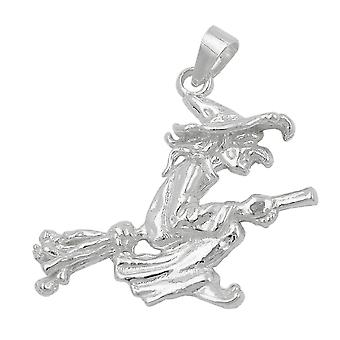 Pendant big witch silver 925