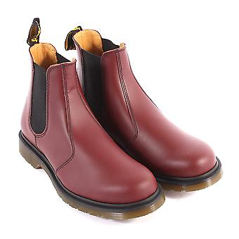 Dr Martens Unisex 2976 Smooth Leather Pull On Chelsea Boot Cherry Red