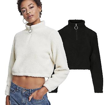 Urban classics ladies - short Sherpa Troyer sweater