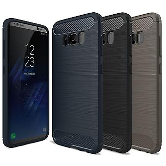 TPU case carbon fiber optics brushed motif protection cover bumper cases cool colors
