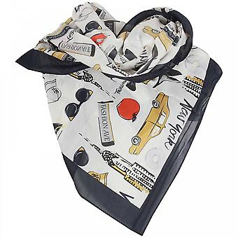Tuzzi Ladies Bold New York Print Cotton Scarf